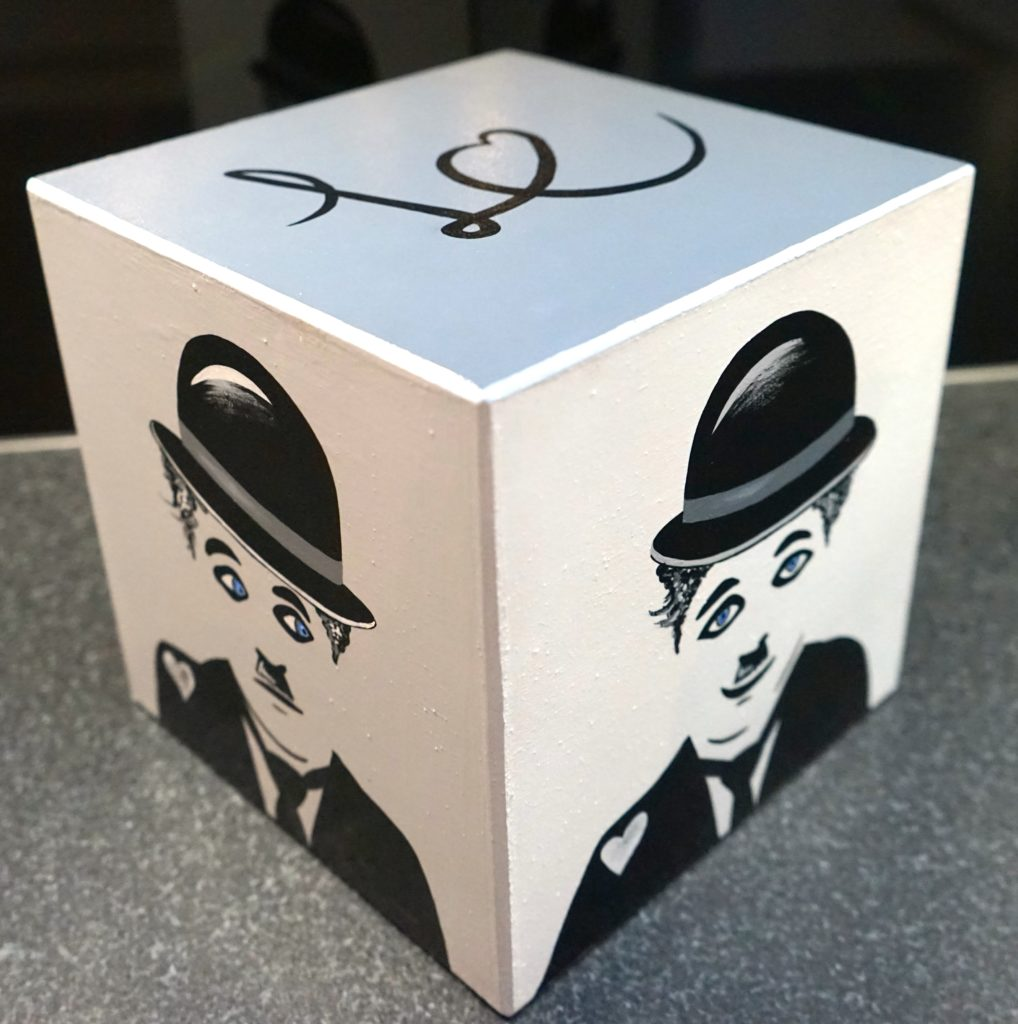Black & White Charlie's eyes box, 2016
