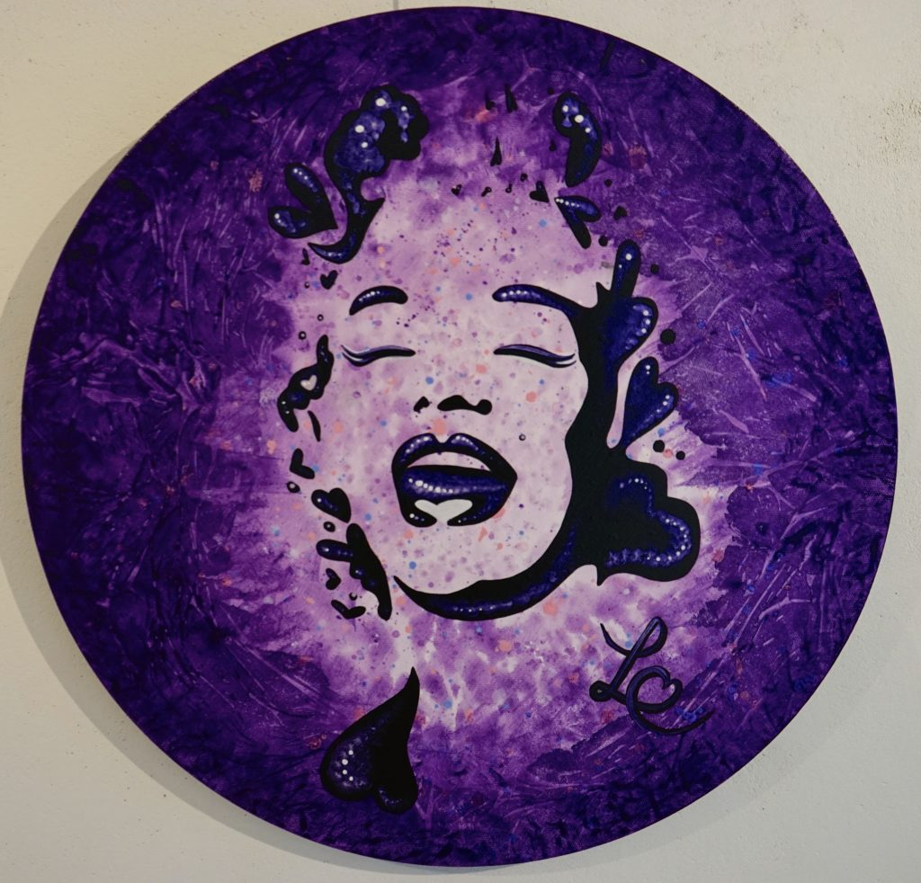 A lovable purple Monroe smile 1-2. 2016